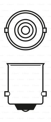 BOSCH 1 987 302 201 Лампа накаливания, фонарь указателя поворота