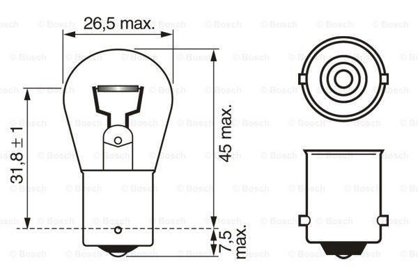 BOSCH 1 987 302 280 Лампа накаливания, фонарь указателя поворота
