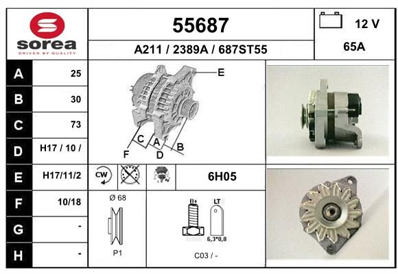 EAI 55687 Generaator