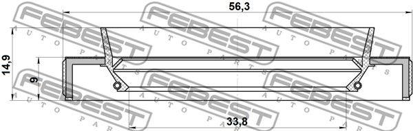 FEBEST 95HBY-35560915C Võlli rõngastihend,veovõll