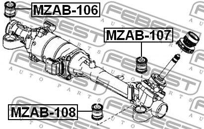 FEBEST MZAB-107 Paigutus,rooliajam