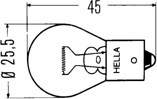 HELLA Hõõgpirn 8GA 002 073-137