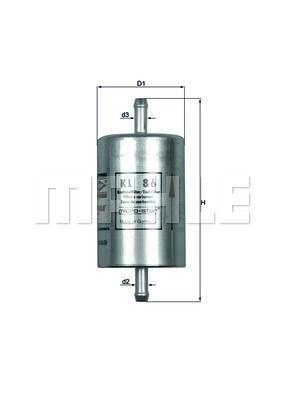 MAHLE KL 86 Kütusefilter
