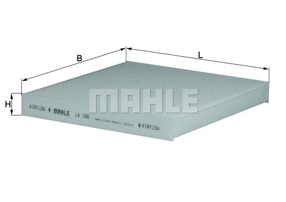 MAHLE LA 158 Filter,salongiõhk