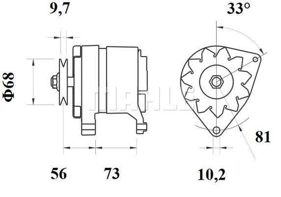 MAHLE MG 244 Generaator
