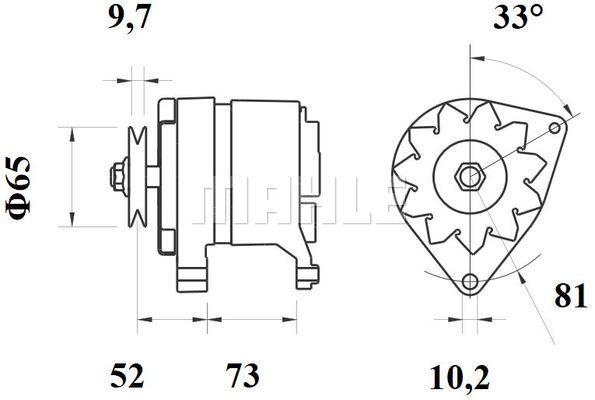 MAHLE MG 535 Generaator