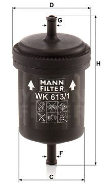 MANN-FILTER WK 613/1 Kütusefilter