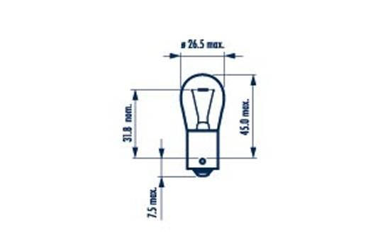 NARVA 17635 Лампа накаливания, фонарь указателя поворота