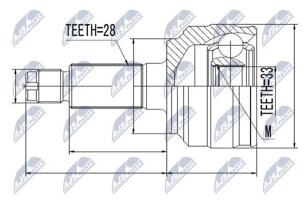NTY NPZ-MZ-058 Liigendlaager, veovõll
