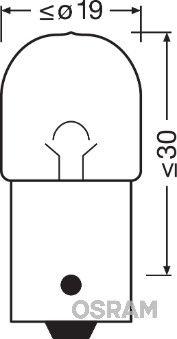OSRAM 5007-02B Hõõgpirn, parkimis-/positsioonituli
