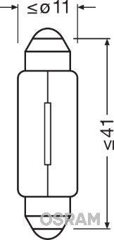 OSRAM 6411-02B Hõõgpirn,ukseavamisvalgus
