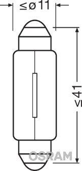 OSRAM 6413 Hõõgpirn,ukseavamisvalgus