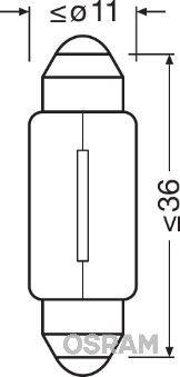 OSRAM 6418 Hõõgpirn, parkimis-/positsioonituli