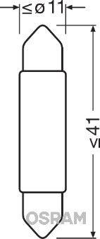 OSRAM 6441CW-01B Hõõgpirn,ukseavamisvalgus