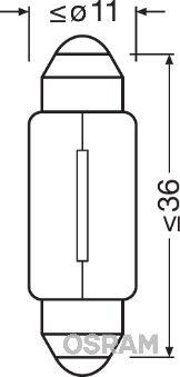 OSRAM 6461 Hõõgpirn,ukseavamisvalgus