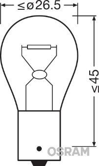 OSRAM 7506-02B Hõõgpirn, parkimis-/positsioonituli