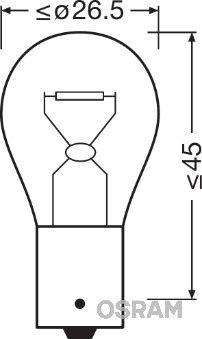 OSRAM 7507ULT Лампа накаливания, фонарь указателя поворота
