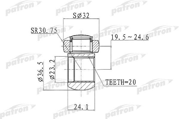 PATRON PTD002 Kolmik,veovõll