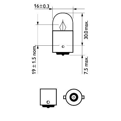 PHILIPS 12821B2 Hõõgpirn, parkimis-/positsioonituli