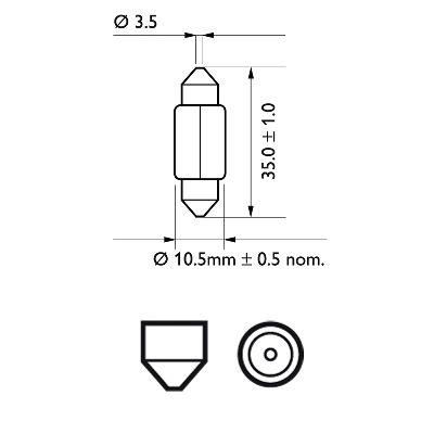 PHILIPS 12844B2 Hõõgpirn, parkimis-/positsioonituli