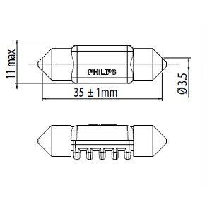 PHILIPS 128596000KX1 Hõõgpirn,sisenemisvalgus