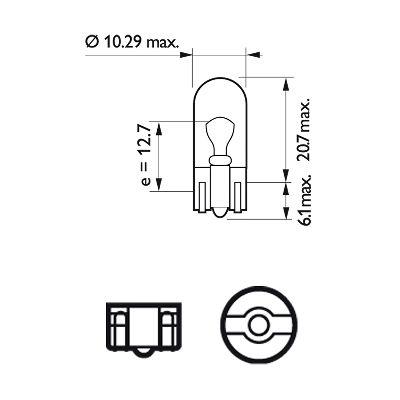 PHILIPS 12961LLECOB2 Лампа накаливания, фонарь указателя поворота