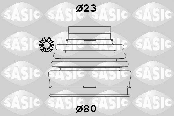 SASIC 9004630 Kaitsekummikomplekt, veovõll
