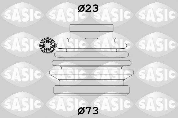 SASIC 9004631 Kaitsekummikomplekt, veovõll