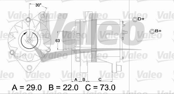 VALEO Generaator 436244