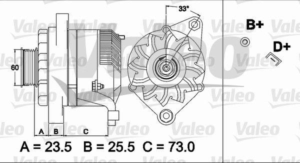 VALEO 437487 Generaator